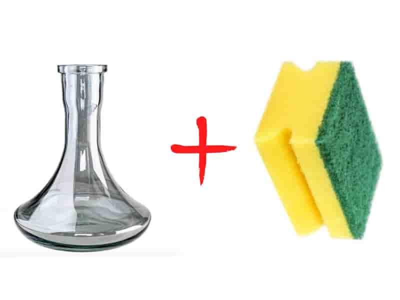 как почистить колбу кальяна без ёршика